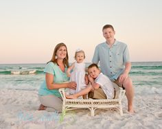 Maybe we could bring something to sit on as a prop for one of the kids? Family Photo Colors, Beach Family Photos, Beach Pics, Family Posing, Beach Pictures, Family Pictures, Couple Photos, Beach Photography, Family Photography