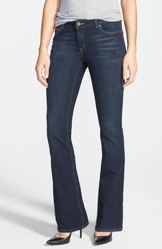 MICHAEL Michael Kors Stretch Bootcut Jeans (Stellar) (Petite) available at #Nordstrom