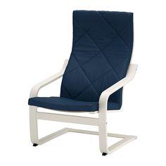POÄNG Chair - Edum dark blue, white - IKEA