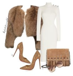 """#15"" by stylewithlammybel-1 ❤ liked on Polyvore featuring Prada, Longchamp, Christian Louboutin and Chloé"