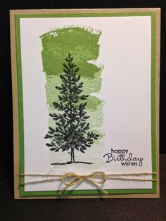 Lovely as a Tree Work of Art Masculine Card Birthday Card Stampin Up Rubber Stamping Handmade Cards Masculine Birthday Cards, Handmade Birthday Cards, Masculine Cards, Card Birthday, Birthday Wishes, Mens Birthday Cards, Men Birthday, Birthday Images, Birthday Quotes