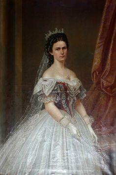Empress Elisabeth, Part IV Austria, 1800s Clothing, Elisabeth, The Empress, European History, Kaiser, Sissi, King Queen, Historical Photos