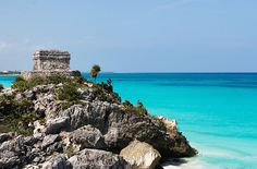Ancient Mayan ruins overlook the beach in Tulum, Mexico...all the inspiration you can handle!