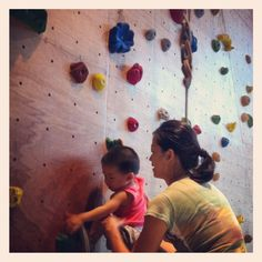 Learning to climb at his age! Commendable! @ Kinetics Climbing in Singapore