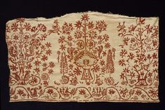 Border Crete, Greece (made) Date:1600s (made) Materials and Techniques: Linen and cotton (fustian) embroidered with silk thread