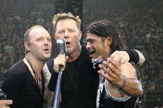 Lars Ulrich, James Hetfield, and Robert Trujillo