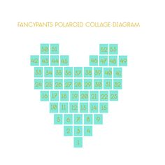 How to make a heart shaped collage out of Polaroids or Instagrams