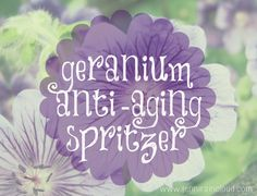 Geranium Facial Spritzer - Jenni Raincloud