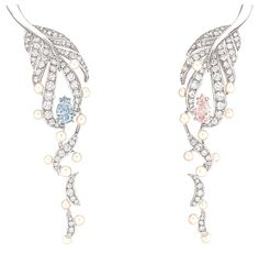 CHANEL Plume Perlee earrings.