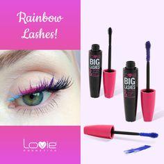 """Πολύχρωμες βλεφαρίδες: Μια ιδέα για ένα μακιγιάζ ματιών πρωτότυπο & """"φρέσκο""""! Χρησιμοποιήστε 2 ή 3 διαφορετικά χρώματα από τις μάσκαρες LOVIE! #loviecosmetics #mascara #long #colorful #lashes Big Lashes, Lipstick, Cosmetics, Beauty, Beleza, Beauty Products, Lipsticks, Rouge, Big Eyelashes"""
