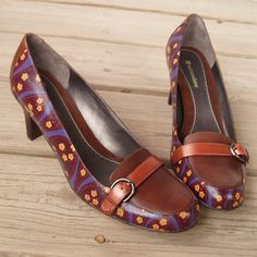 Sugar Plum hand painted shoes W10 by wingtips on Etsy, $250.00