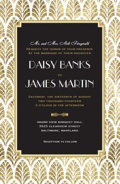 Gatsby Wedding Invitation | Vistaprint