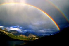 When traveling through Kananaskis Country, you will probably come across Spray Lakes near Banff National Park in Alberta, Canada. What you won't always come across is an incredibly beautiful double rainbow like this - by Chris & Lara Pawluk
