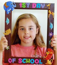 First Day of School Frame-cute idea, but include the date or grade..