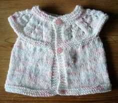 marianna's lazy daisy days: All-in-one Knitted Baby Tops If I use a smaller needle i can make it for an AG doll. I actually have the knitting skills to make this. Baby Cardigan Knitting Pattern Free, Baby Sweater Patterns, Knit Baby Sweaters, Baby Clothes Patterns, Baby Hats Knitting, Baby Knitting Patterns, Baby Patterns, Clothing Patterns, Knitted Baby