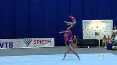 Acrobatic Gymnastics World Championships Russia Women's Group 2015 - YouTube