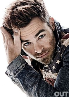 Chris Pine- I dont know who he is either but  ahh his eyes and facial hair, gorgeous man