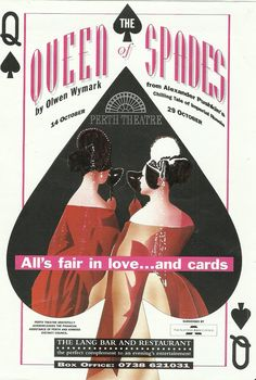 poster of The Queen of Spades in Perth Theatre . 14th October 1994- 29th October 1994.