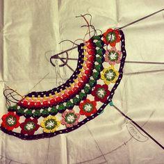 My crochet bycicle guards project. Adaptando el patrón al tamaño real de la bici. #ganchillo #crochet #ganchet