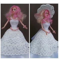 Платье. Как связать платье для куклы! How to tie a dress for a doll!