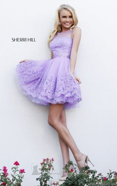 Sherri Hill 11091 by Sherri Hill hate shot dresses but Sherri hill has done it well!