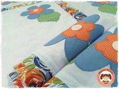 Blog OFICIAL Menina Nunalu: Jogo de cozinha, com flores azuis! Um charme só!