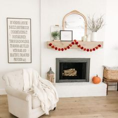 DIY FIREPLACE MAKEOVER REVEAL  Check out how this dated 1970's fireplace was transformed with a little grout and paint!