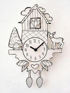 Paper coocoo clock