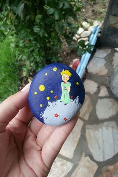 Projects For Kids, Art Projects, Painted Rocks, Hand Painted, Diy And Crafts, Arts And Crafts, Rock Painting Designs, Zen Art, The Little Prince