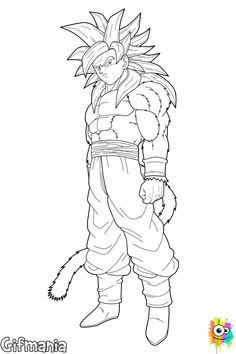 The Dragon Ball coloring pages called Goku Super Saiyan 4 to coloring. Surely you recognize Son Goku, the protagonist of the anime series Dragon Ball. Super Saiyan Goku, Goku 4, Foto Do Goku, Dbz Drawings, Goku Pics, Dragon Super, Goku Drawing, Dragon Ball Gt, Character Drawing