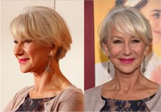 The Best Short Haircuts for Women Over 50: Bangs on a Short Cut