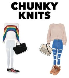 """""""Chunky knits"""" by kawaiicait ❤ liked on Polyvore featuring River Island, Marc Jacobs, Topshop, Vans and Muuñ"""
