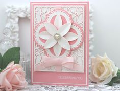 Papercraft With Crafty: Amazing Paper Grace April Die of the Month Blog Hop – Dahlia Dimensional Doily