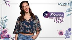 What's Trending? Floral crop tops! #floralprints #upwithtrends  Buy your printed crop here http://bit.ly/29lXqgZ