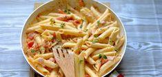 Makaronowa patelnia - Pasja Smaku Pasta Recipes, Pasta Salad, Macaroni And Cheese, Spaghetti, Food And Drink, Rice, Lunch, Vegetables, Cooking