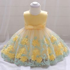 Retail Baby Dresses Girl Birthday Party Ball Gown Dresses Newborn Baby Baptism Dress With Bow Toddlers Summer Girl Dress - Shop Forest is a leading Online Store where you can purchase everything with upto discount. Baby Girl Wedding Dress, Baby Girl Birthday Dress, Wedding Dresses For Girls, Girls Party Dress, Birthday Dresses, Little Girl Dresses, Baby Dress, Girls Dresses, Party Dresses