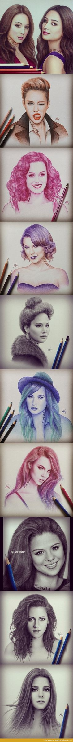 Celebrity Drawings by Artistiq