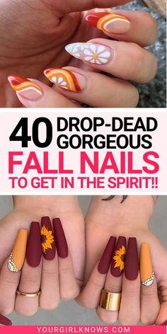 Plaid Nail Designs, Fall Nail Art Designs, Cute Acrylic Nail Designs, Halloween Nail Designs, Halloween Nail Colors, New Nail Art Design, Ombre Nail Designs, Cute Nails For Fall, Fall Toe Nails