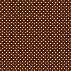 Free digital polka dot scrapbooking paper : chocolate brown - Geschenkpapier - freebie | MeinLilaPark – DIY printables and downloads