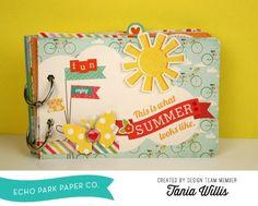 Summer Bliss Mini Album by Tania Willis #echoparkpaper