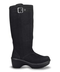 186ef549ea0 Take a look at this Black Crocs Cobbler Boot - Women on zulily today!  Cobbler