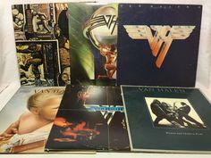 Van Halen Vinyl Record Lot of 6 Record Albums - S/T, II, 1984, 5150, Women, etc.