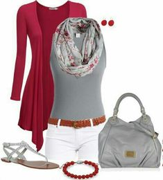 Moda casual Grey and Burgundy...
