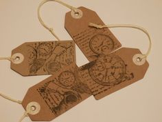 Luggage labels. Steampunk. Steampunk luggage by Pearlypantscrafts