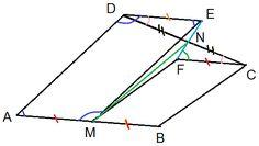 Matematică - rezolvări detaliate: Problemă cu paralelograme  clasa a VII-a Line Chart, Diagram