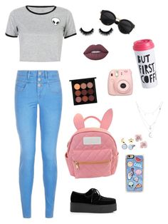 """I'm a model."" by mettathegreat on Polyvore featuring WithChic, cutekawaii, Zero Gravity, Lime Crime, MAC Cosmetics, Skagen, Erica Weiner and Charlotte Russe"