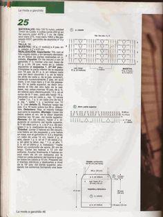 #170 Blusa de Tirantes a Crochet o Ganchillo