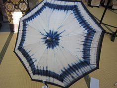 PARASOL ultraviolet protection AIZOME dyeing Japanese blue and white