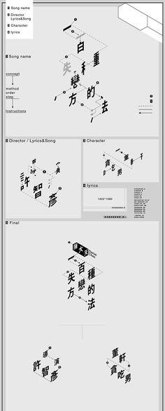 "Title typeface design for 陳大天 Daniel Chen  music video  "" A Hundred Ways to Break "" Directo Kidding Hsu"