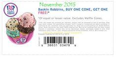 Free Printable Coupons: Baskin Robbins Coupons
